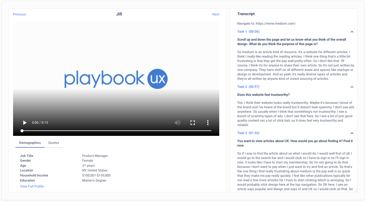 PlaybookUX User Testing Software